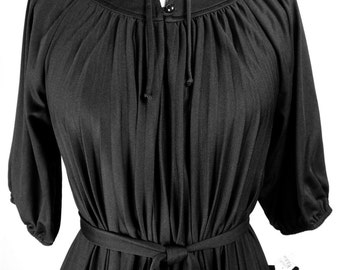 Vintage 1970s Black Dress by Good Times! Size 6/8 NWOT