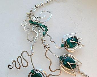 Necklace, jewelry set, Jewelry, copper jewelry, silver necklace, silver jewelry, bracelet