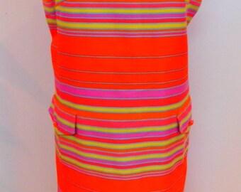 1960 MOD Color Block Sleeveless Dress by Jack Needleman