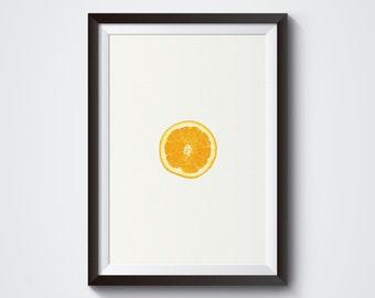 Orange Wall Art, orange Print, Art Print, Orange Kitchen Decor, Orange Kitchen, Fruit Photography, Fruit and Vegetable Prints, Fruit Print