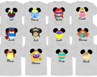 Disney Shirt DISNEY PRINCESSES Disney Vacation Group Shirts
