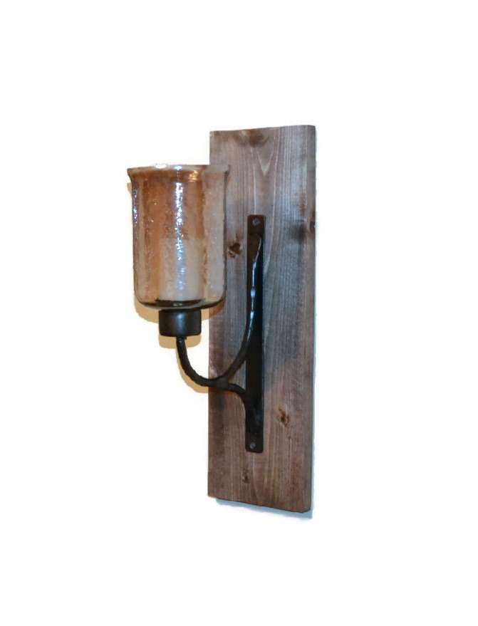 Wall Sconces Rustic : Rustic Wall Sconce Wooden Sconce Rustic Decor by EllaMurphyDesigns