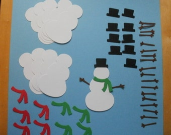 set of 10 Die Cut Card Stock Snowmen paper pieces embellishments scrapbook cards