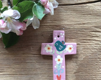 "rose ceramic cross ""tree of life"""