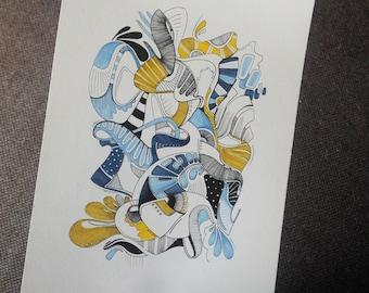 Original abstract drawing