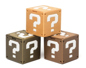Classic Retro Inspired Mario Mystery Cube w/Optional Ring Insert For One or Two