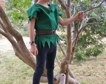 Peter Pan Costume Robin Hood Costume Elf Elves Dress up Costume