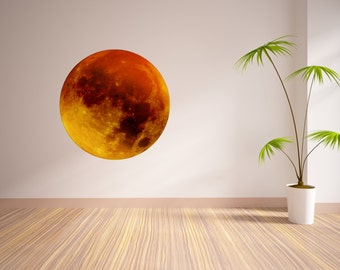 Blood Moon Vinyl Wall Decal - Multiple Sizes
