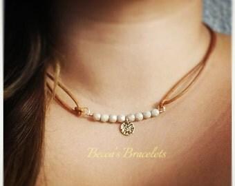 Leather bracelet /choker