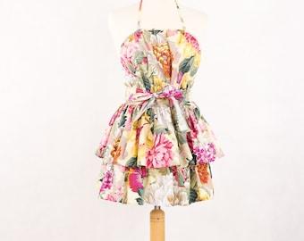 Flirty floral apron, cotton apron, Apron Oh Lala 3