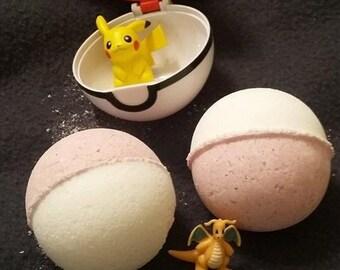 Handcrafted Pokemon Bath Bomb with Pokemon hidden inside