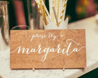 Bar menu - signature drink - Wooden Wedding Signs - Wood