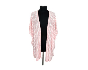 Soft Pink Lightweight Knit Cocoon Kimono