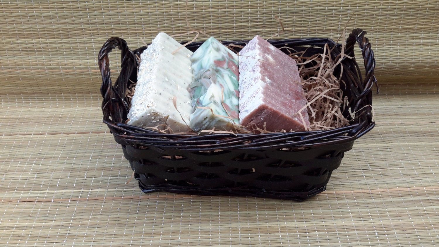 Handmade Basket Gifts : Handmade soap basket gift by georgiamadesoaps on etsy