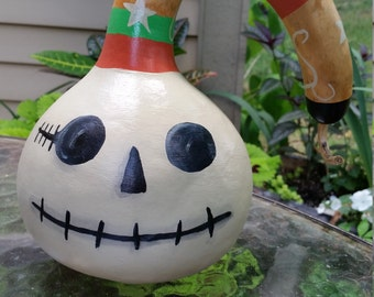 Pirate Skeleton Halloween Gourd