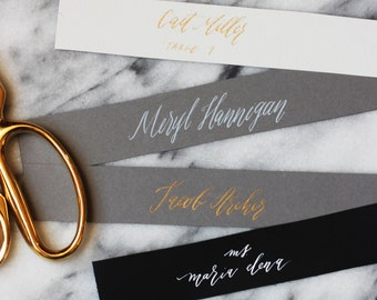 Thin, Custom Calligraphy Place Cards