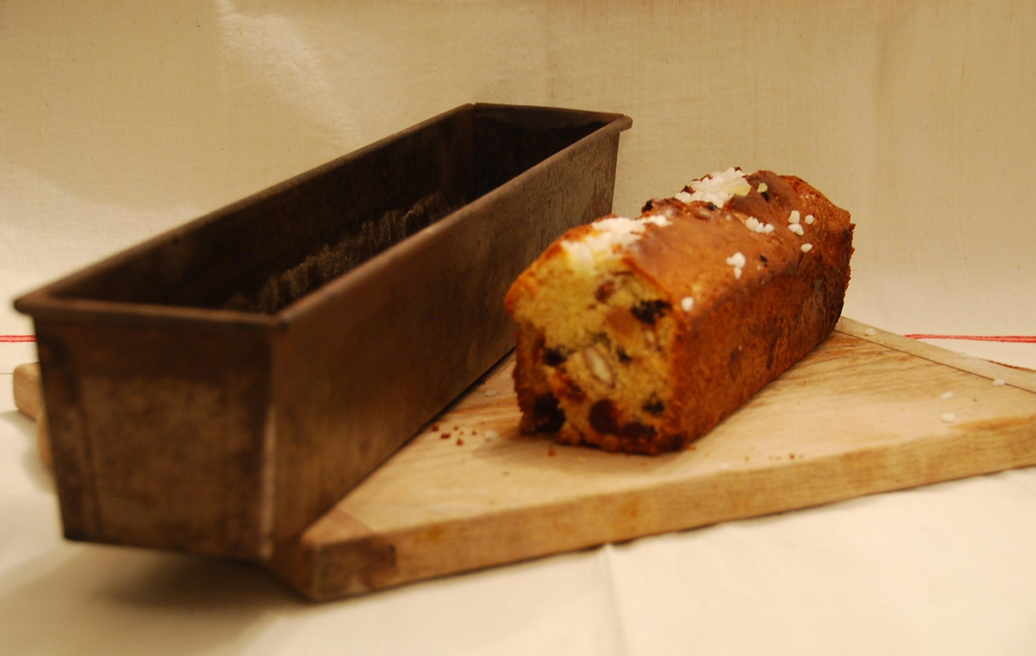 Cake Recipes Using Loaf Tin: 2 French Vintage Bakery Loaf Or Cake Tin. Very Long At 20