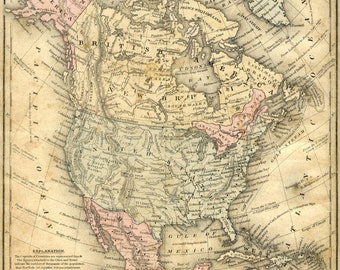 Vintage USA Map Of The United States Of America French - Historic us maps