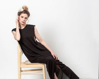 Black Dress Long, Sleeveless Maxi Dress, Day Dress,Maxi Dress Summer