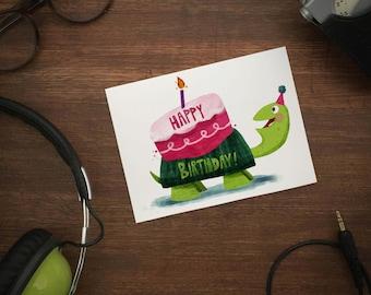 HAPPY BIRTHDAY! Turtle greeting card