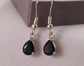 Very Dark Garnet dangle earrings