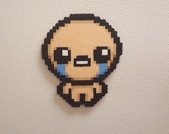 Isaac Perler Bead Art, The Binding of Isaac, Roguelike, Cry, pixel art, 8 bit, retro, steam