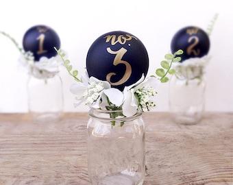 Chalkboard Floral Wedding Table Number Centerpiece, Mason Jar Table Number, Calligraphy Centerpiece, Wedding Centerpiece, Table Number Cente