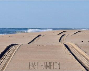 """East Hampton """"Tracks on Beach"""" Postcard"""