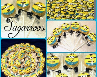 12 Minion Oreo Pops Party Favors Minion Theme Birthday Party