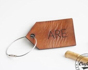 Monogram Luggage Tag, Custom Bag Tag, Custom Luggage Tag, Leather Luggage Tag, Stroller Tag, Personalized Tag, Leather Address Tag, Name Tag