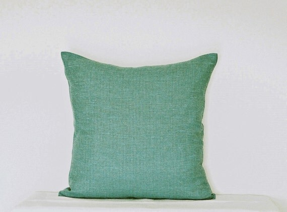 Bright Blue Decorative Pillow : Decorative Mint Bright Teal Blue Pillow Brigt Turquoise