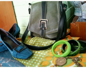 Green 1960s Shoulder Bag Mod Classic