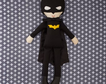 Handmade Batman Fabric Ragdoll