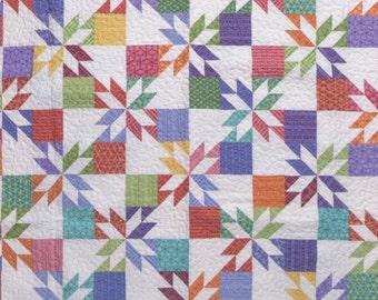 "MSQC - Hunter's Star Quilt Pattern - Charm Pack/5""Squares Friendly Design - Missouri Star Quilt Company #1207"