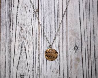 FREE SHIPPING//Adventure awaits necklace//hand stamped/