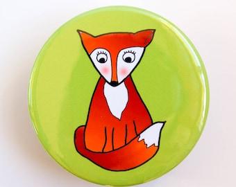 Bashful Fox Pocket Mirror