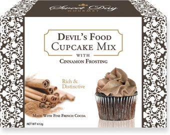 Devil's Food Cupcake Mix w/Cinnamon Frosting