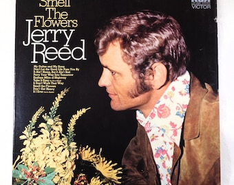 "Jerry Reed ""Smell The Flowers"" Vinyl Lp Album Vintage Collectible"