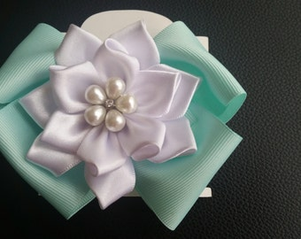 Hair clip,ribbon flower,hair bows