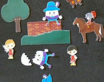 Humpty Dumpty Felt Board Story // Flannel Board // Imagination // Children // Preschool // Classic Nursery Rhyme