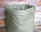 WASHABLE PAPER BASKET Vegan Bag Storage Organizer Box Select Your Colour Gray White Black Natural Bath Beauty Kitchen Eco Handmade Gift