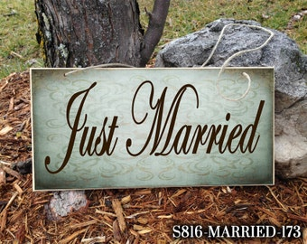 Personalized Wedding Sign, Just Married Sign, Custom Wedding Sign, Cute Wedding Sign, Ring Bearer Sign, Wedding Sign, Wedding Just Married