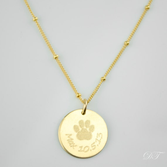 necklace personalized custom paw print necklace pet