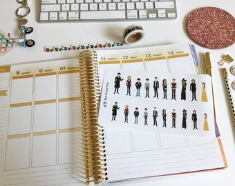 Once Upon A Time Character Stickers. 20 MATTE Planner Stickers
