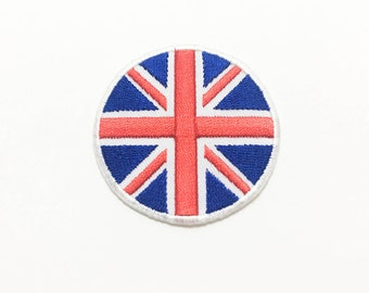 Union Jack Flag Iron on Patch(M1) - Union Jack Flag Applique Embroidered Iron on Patch/ Union Jack Flag  Patch
