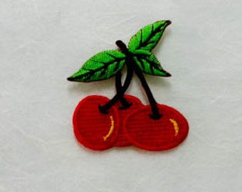 Cherry Iron on Patch(S) - Cherry Applique Embroidered Iron on Patch