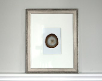 set of 4 11x14 framed agate slice multiple colors available gold plated agate slice metallic silver frame
