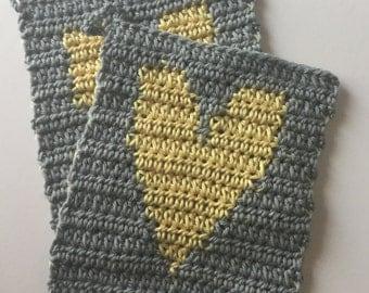 Heart Washcloths