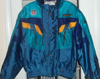 Mens Vintage 80's 90's Descente Snowboard Ski Jacket Medium