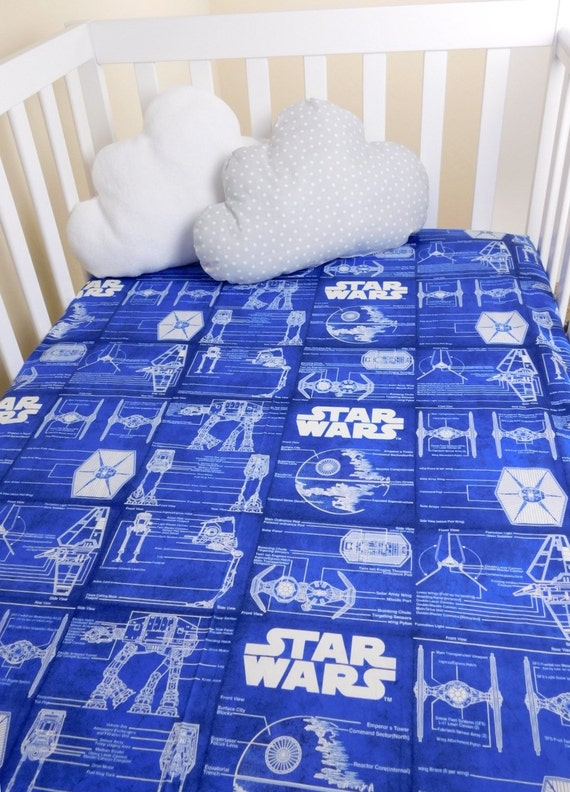 Star Wars Crib Sheets Stars Wars Fitted Crib By